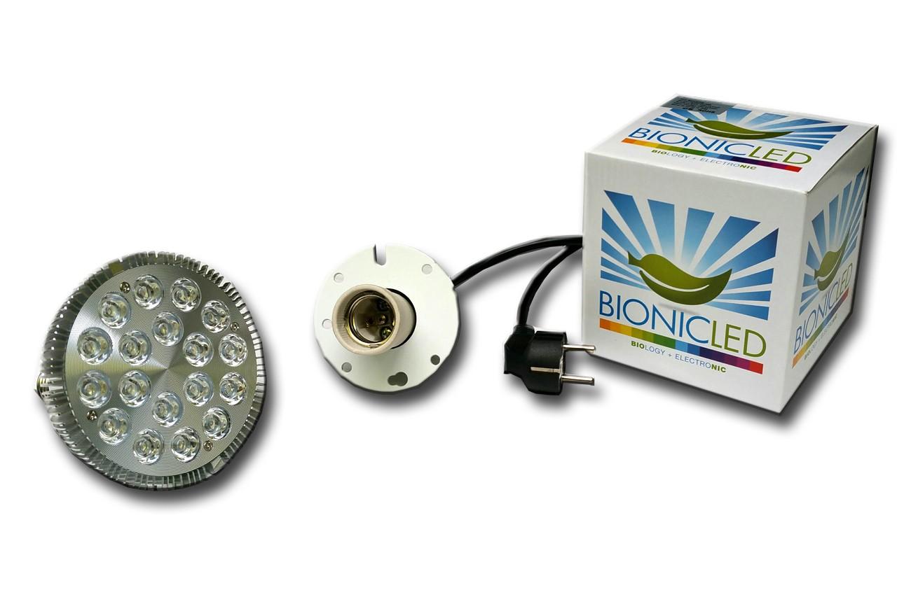 LED - BIONICLED - PACK 1 x BioSpot 54 W - E27 + Douille Suspension