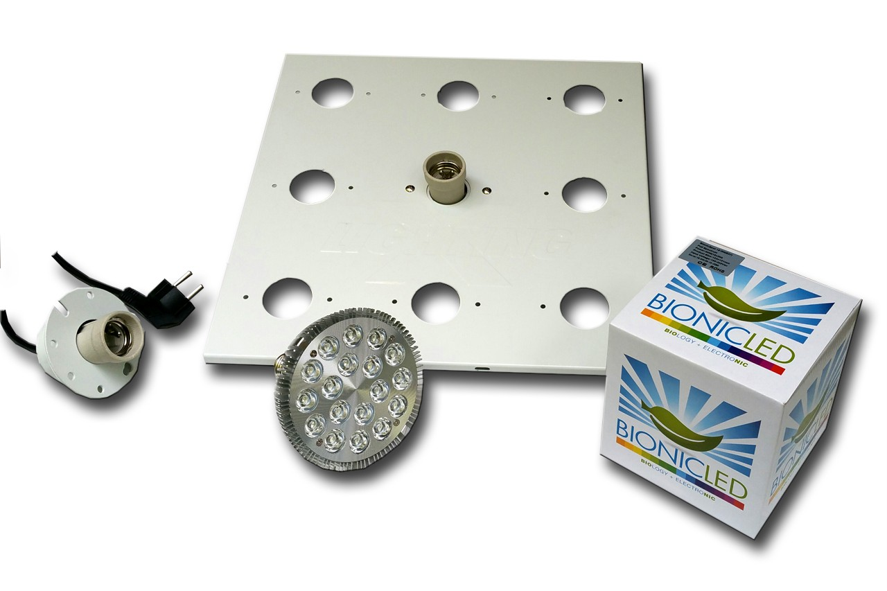 LED - BIONICLED - PACK 1 x BioSpot 54 W - E27 + Douille + Platine
