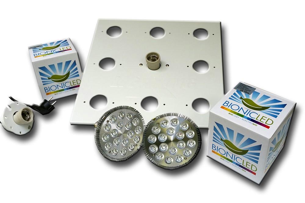 LED - BIONICLED - PACK 2 x BioSpot 54 W - E27 + Douille + Platine