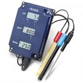 Testeur EC + pH + T° - Hanna HI991405 - Combo PRO